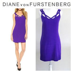 Dress Diane von Furstenberg Jillian Sz 10 Purple